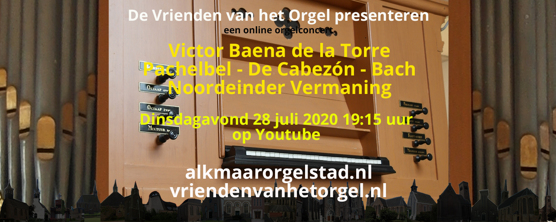Online concert door Victor Baena de la Torre