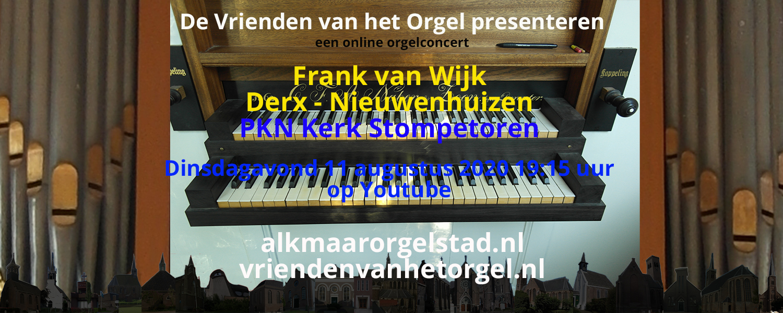 Online concert door Frank van Wijk