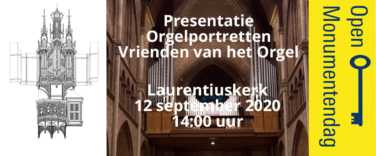 Presentatie orgelportretten Laurentiuskerk Alkmaar